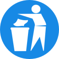 rubbish bin sign