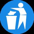 rubbish bin sign